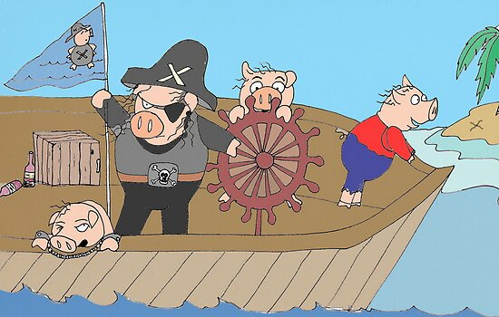 Pirate Pigs  by Kerry Cillo