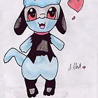 Fan drawing of Riolu  by Seira-Roido