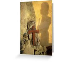 Pilgrim Shadow & Cross Greeting Card