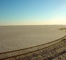 Tracks on Salt Flats | Tunisia by rubbish-art