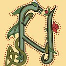 Celtic Oscar letter N (New Manuscript version) by Donna Huntriss