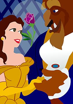 Beauty & The Beast Poster by Jessica Slater