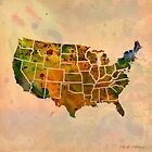 america map , 1 by mark ashkenazi
