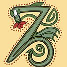 Celtic Oscar letter Z (New Manuscript version) by Donna Huntriss