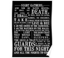 The Night's Watch Oath Poster