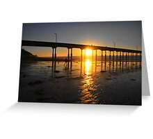 Sunset Through the Pier Greeting Card