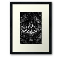 Wall of Faces II, Cambodia Framed Print