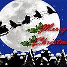 santa sleigh by geot