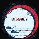 Disobey whale in Ocean by carmanpetite