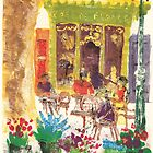 Cafe de France, Isle sur la Sorgue by aceshirt