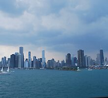 Chicago harbor view by David Russo