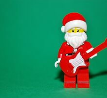 Lego Santa Guitar by robertsscholes