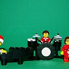 Lego Folds Five Christmas by robertsscholes