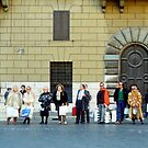 Taxi Queue - Rome by Flo Smith