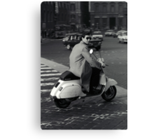 Scooterman Rome Canvas Print