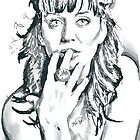 Katy Perry Pencil & Ink Sketch by chrisjh2210