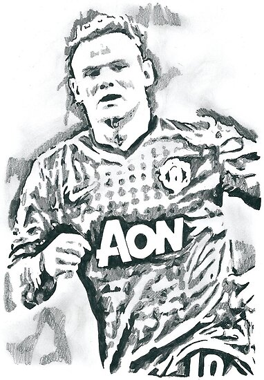 Wayne Rooney Sketch chrisjh Portfolio Wayne Rooney Pencil Ink Sketch
