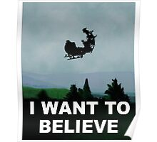 I Want To Believe (Santa) - X-FIles Poster