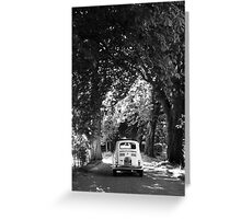 Cinquecento Fiat 500 BW Greeting Card