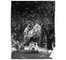 Cinquecento Fiat 500 BW Poster
