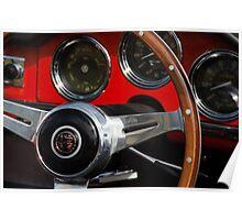 Alfa Romeo Giulia Spider Dashboard Poster