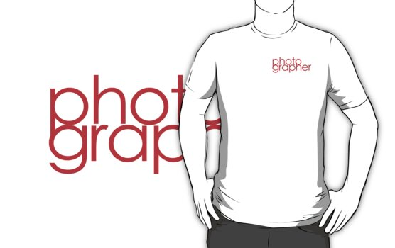 Photographer T Shirt Red by Phillip Shannon