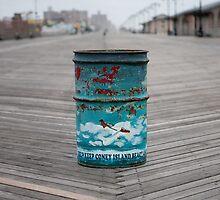 Coney Island Trash Can by Elephantlove