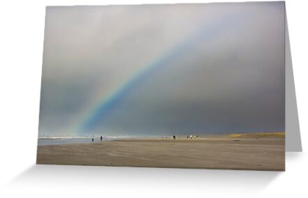 Rainbow over Seaside Beach by Jim Stiles