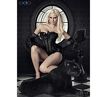 Kristy and the Panther Photographic Print