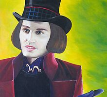 Willy Wonka - Johnny Depp by Sharyn Kimpton