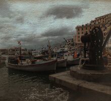 The Fishing Boats of Camogli  by Karen Lewis