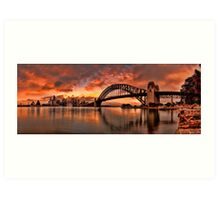 Kirribilli Sunrise - Panorama Art Print