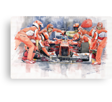 Ferrari F 2012 Fernando Alonso Pit Stop Canvas Print
