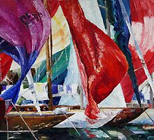 Boats And Sea by Barbara Pommerenke