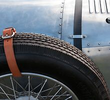 Vintage Car Spare Wheel by Flo Smith