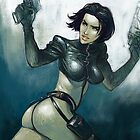 Aeon Flux fanart by Dmitry Narozhny