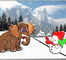 Merry Christmas Snow Baby by Dennis Melling