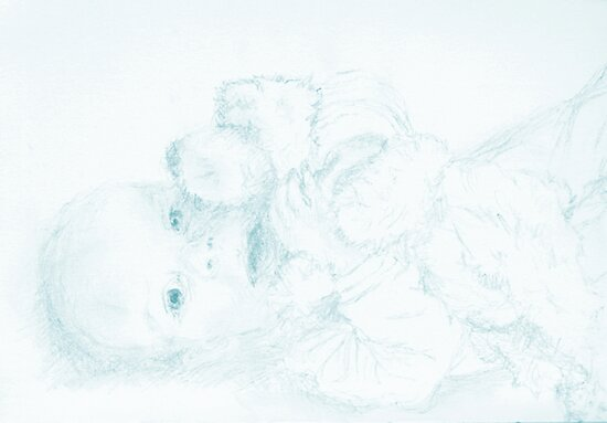 A baby boy and his bear by Simplastic
