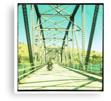 Crossing the Bethanga Bridge Canvas Print