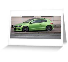 green sports car Greeting Card