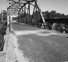 Route 66 - One Lane Bridge by Frank Romeo