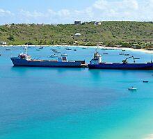 Transportation: cargo ships. by FER737NG