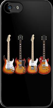 Four Sunburst Guitars by bradyarnold