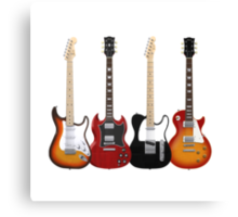 Four Electric Guitars Canvas Print