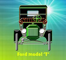 1908 Cabriolet Model 'T' Ford  iPad case design by Dennis Melling