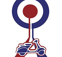 Retro Mod target and scooter Art by Auslandesign