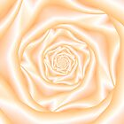 Light Peach Spiral Rose by Objowl