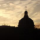 Paris skyline sunset by graceloves
