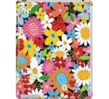 Colorful Spring Flowers Garden iPad Case/Skin