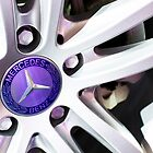 Mercedes-Benz Logo On The Car Wheel [ Print & iPad / iPod / iPhone Case ] by Mauricio Santana
